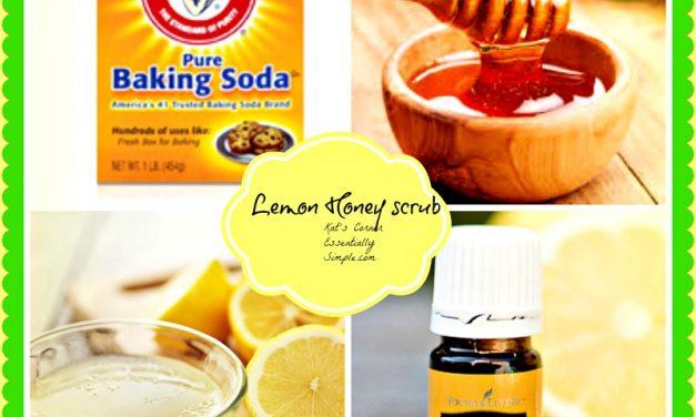 DIY Lemon Honey Skin Scrub and Exfolliant!  That works!