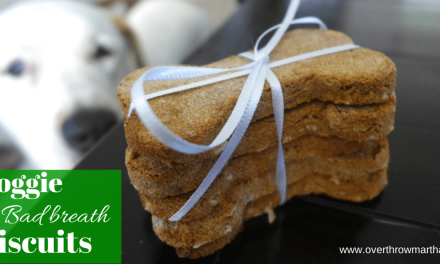 Bad Breath busting biscuits for your dog!