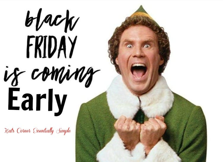 It's Happening Early!  Black Friday Sale starts tomorrow!